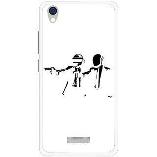 Snooky Printed Gangster Mobile Back Cover For Lava Iris X9 - Multi