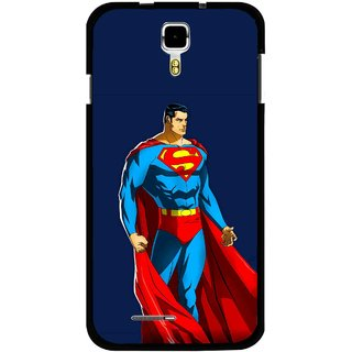 Snooky Printed Super Hero Mobile Back Cover For Micromax Canvas Juice A177 - Multicolour