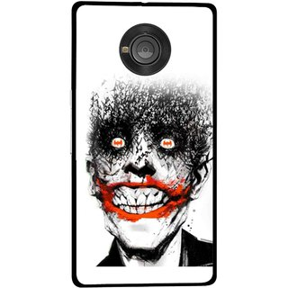 Snooky Printed Joker Mobile Back Cover For Micromax Yu Yuphoria - Multicolour