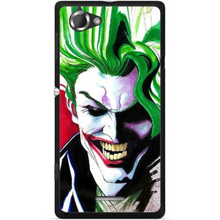 Snooky Printed Joker Mobile Back Cover For Sony Xperia L - Multicolour