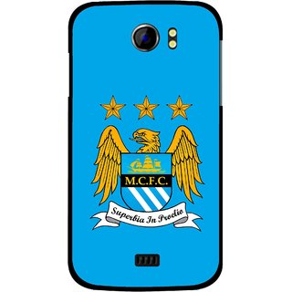 Snooky Printed Eagle Logo Mobile Back Cover For Micromax Canvas 2 A110 - Blue