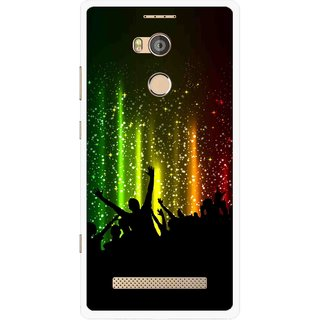 Snooky Printed Party Time Mobile Back Cover For Gionee Elife E8 - Multicolour
