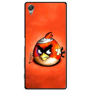 Snooky Printed Wouded Bird Mobile Back Cover For Sony Xperia X - Red