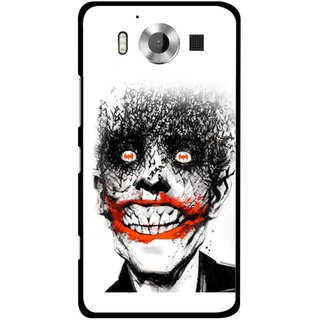 Snooky Printed Joker Mobile Back Cover For Microsoft Lumia 950 - Multicolour