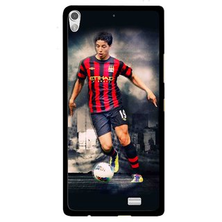 Snooky Printed Football Mania Mobile Back Cover For Gionee Elife S5.1 - Multi