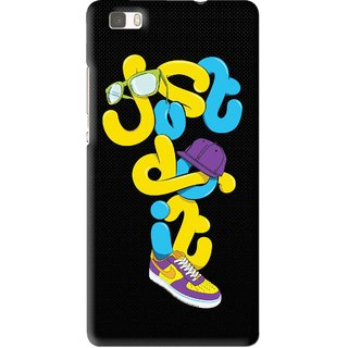Snooky Printed Just Do it Mobile Back Cover For Huawei Ascend P8 Lite - Multi