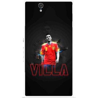 Snooky Printed Sports Villa Mobile Back Cover For Sony Xperia Z - Multicolour