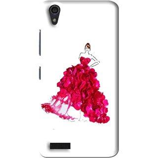Snooky Printed Rose Girl Mobile Back Cover For Lenovo A3900 - Multi