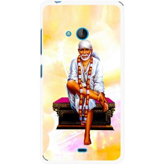 Snooky Printed Sai Baba Mobile Back Cover For Nokia Lumia 540 - Multicolour