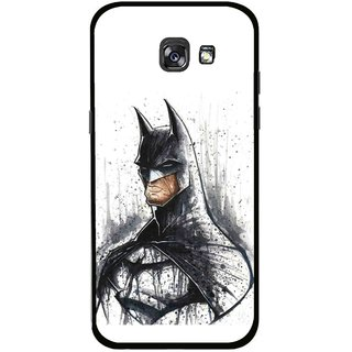 Snooky Printed Angry Batman Mobile Back Cover For Samsung Galaxy A7 (2017) - Multicolour