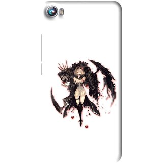 Snooky Printed Kungfu Girl Mobile Back Cover For Micromax Canvas Fire 4 A107 - Multi