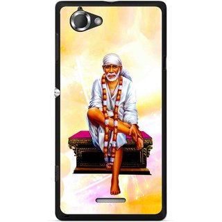 Snooky Printed Sai Baba Mobile Back Cover For Sony Xperia L - Multicolour