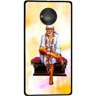 Snooky Printed Sai Baba Mobile Back Cover For Micromax Yu Yuphoria - Multicolour