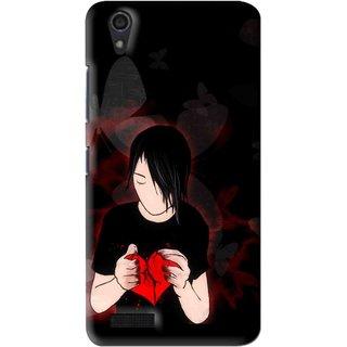 Snooky Printed Broken Heart Mobile Back Cover For Lenovo A3900 - Multi