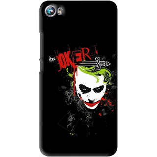 Snooky Printed The Joker Mobile Back Cover For Micromax Canvas Fire 4 A107 - Multi