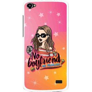 Snooky Printed No Boyfriend Mobile Back Cover For Intex Aqua Star 2 HD - Multi