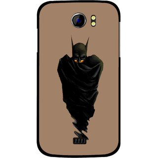 Snooky Printed Hiding Man Mobile Back Cover For Micromax Canvas 2 A110 - Brown