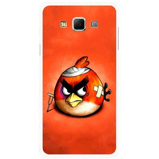 Snooky Printed Wouded Bird Mobile Back Cover For Samsung Galaxy E7 - Multicolour