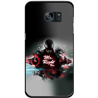 Snooky Printed Mr.Right Mobile Back Cover For Samsung Galaxy S7 Edge - Multicolour
