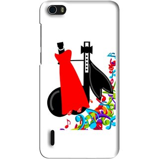 Snooky Printed Fashion Mobile Back Cover For Huawei Honor 6 - Multi