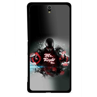 Snooky Printed Mr.Right Mobile Back Cover For Sony Xperia C5 - Multicolour