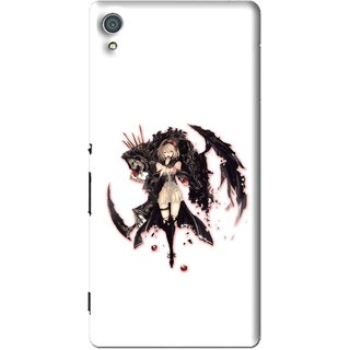 Snooky Printed Kungfu Girl Mobile Back Cover For Sony Xperia Z4 - Multi