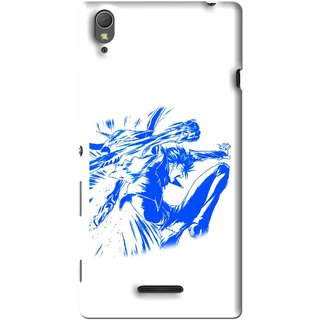 Snooky Printed Horse Boy Mobile Back Cover For Sony Xperia T3 - Multi