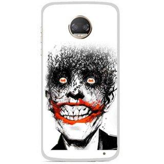 Snooky Printed Joker Mobile Back Cover For Motorola Moto Z2 Play - Multicolour