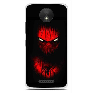 Snooky Printed Spider Eye Mobile Back Cover For Motorola Moto C Plus - Black