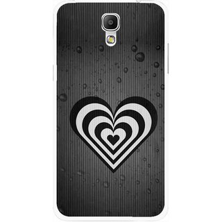 Snooky Printed Hypro Heart Mobile Back Cover For Samsung Galaxy Mega 2 - Multicolour