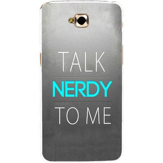 Snooky Printed Talk Nerdy Mobile Back Cover For Lg G Pro Lite - Grey