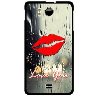 Snooky Printed Love You Mobile Back Cover For Micromax Canvas DOODLE A111 - Multicolour