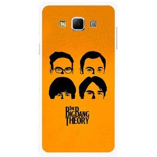Snooky Printed Bigbang Mobile Back Cover For Samsung Galaxy E7 - Multicolour