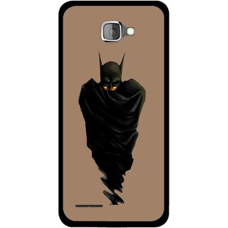Snooky Printed Hiding Man Mobile Back Cover For Micromax Canvas Mad A94 - Brown
