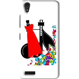 Snooky Printed Fashion Mobile Back Cover For Lenovo A3900 - Multi