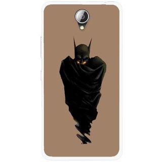 Snooky Printed Hiding Man Mobile Back Cover For Lenovo A5000 - Brown