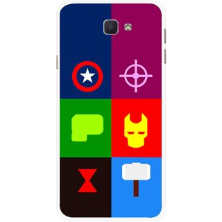 Snooky Printed Multi Heros Mobile Back Cover For Samsung Galaxy J7 Prime - Multicolour