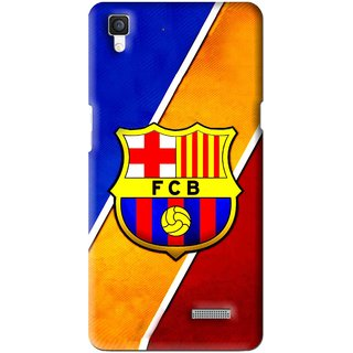 Snooky Printed Football Club Mobile Back Cover For Oppo R7 - Multi