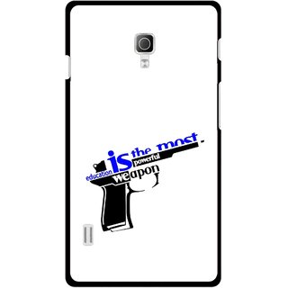 Snooky Printed Be Educated Mobile Back Cover For Lg Optimus L7 II P715 - Multicolour