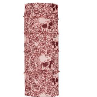 Autofy Unisex Skull and Rose Print Lycra Headwrap / Bandana (Skin Color, Freesize)