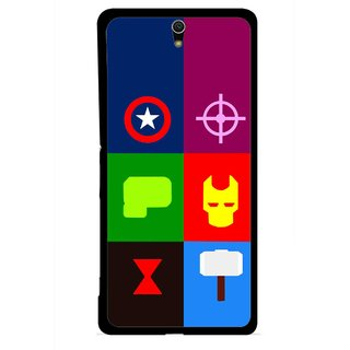 Snooky Printed Multi Heros Mobile Back Cover For Sony Xperia C5 - Multicolour