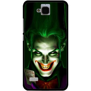 Snooky Printed Loughing Joker Mobile Back Cover For Huawei Honor Holly - Green
