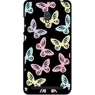 Snooky Printed Butterfly Mobile Back Cover For Asus Zenfone 5 - Multicolour