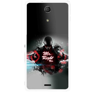 Snooky Printed Mr.Right Mobile Back Cover For Sony Xperia ZR - Multicolour