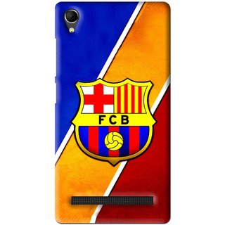 Snooky Printed Football Club Mobile Back Cover For Intex Aqua Power Plus - Multi