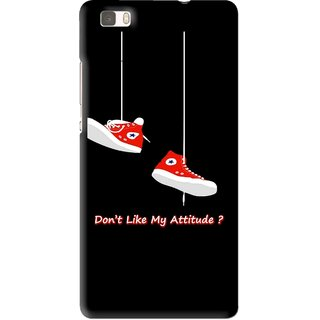 Snooky Printed Attitude Mobile Back Cover For Huawei Ascend P8 Lite - Multi