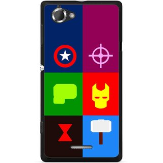 Snooky Printed Multi Heros Mobile Back Cover For Sony Xperia L - Multicolour