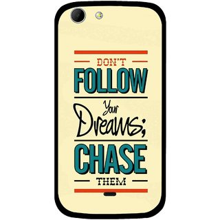 Snooky Printed Chase The Dreams Mobile Back Cover For Micromax Canvas 4 A210 - Multicolour