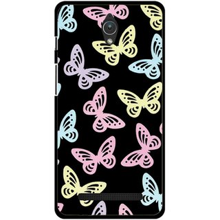 Snooky Printed Butterfly Mobile Back Cover For Asus Zenfone C - Multicolour