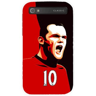 Snooky Printed Sports ManShip Mobile Back Cover For Blackberry Classic - Multicolour